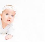 逗人喜爱的婴孩一点 免版税库存照片