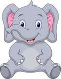 逗人喜爱的婴孩大象动画片 图库摄影