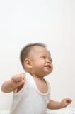 逗人喜爱的婴孩表面表达式 库存图片