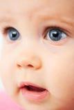 逗人喜爱的婴孩面孔 免版税库存照片