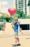 逗人喜爱的6岁男孩 免版税图库摄影