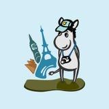 逗人喜爱的驴旅游摄影师例证 免版税库存图片