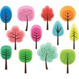 逗人喜爱的结构树 向量例证
