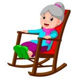 逗人喜爱的滑稽的祖母 皇族释放例证