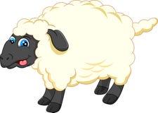 逗人喜爱的绵羊动画片 图库摄影