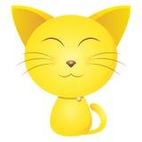 逗人喜爱的黄色猫 免版税库存照片