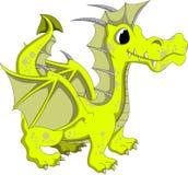 逗人喜爱的黄色龙动画片 免版税库存图片