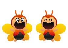 逗人喜爱的蝴蝶动画片飞行 图库摄影