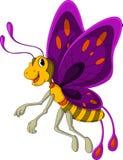 逗人喜爱的蝴蝶动画片 免版税库存图片