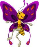 逗人喜爱的蝴蝶动画片 图库摄影