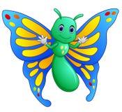 逗人喜爱的蝴蝶动画片 库存图片