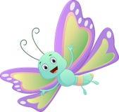 逗人喜爱的蝴蝶动画片 免版税库存照片