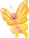 逗人喜爱的蝴蝶动画片 库存例证