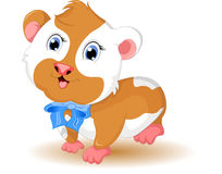 逗人喜爱的仓鼠动画片有背景 库存图片