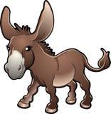 逗人喜爱的驴illustratio向量 库存图片