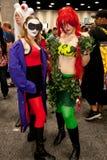 逗人喜爱的DC cosplayers 免版税库存照片