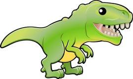 逗人喜爱的dinosau rex暴龙 向量例证