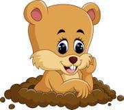 逗人喜爱的groundhog动画片 免版税库存图片