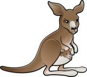 逗人喜爱的illustrat袋鼠向量 免版税图库摄影