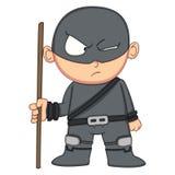 逗人喜爱的Ninja动画片 免版税库存图片