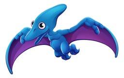 逗人喜爱的Pterosaur动画片飞行恐龙 库存图片