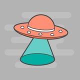 逗人喜爱的UFO 免版税库存照片