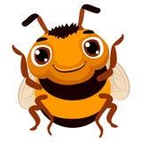逗人喜爱蜂的动画片 向量例证