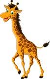 逗人喜爱长颈鹿动画片微笑 图库摄影