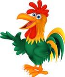 逗人喜爱雄鸡动画片提出 免版税库存图片