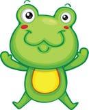 逗人喜爱青蛙跳跃 库存例证