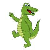 逗人喜爱鳄鱼走 图库摄影