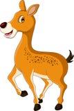 逗人喜爱鹿动画片摆在 免版税库存照片