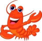 逗人喜爱龙虾动画片提出 库存照片