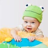 逗人喜爱婴孩使用 免版税库存照片