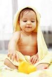 逗人喜爱婴孩的浴 免版税图库摄影