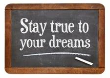 逗留真实对您的梦想 免版税库存照片