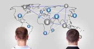 通信世界 免版税图库摄影