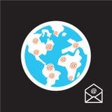 通信世界  图库摄影