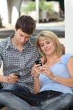 通信人年轻人 免版税库存图片