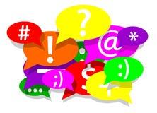 通信和社会网络 免版税库存照片
