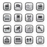 通信和连接数图标 免版税库存图片