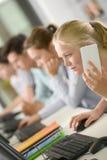通信在教室 免版税库存图片