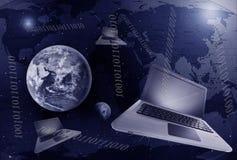 通信数字式地球 免版税库存照片
