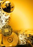 通信数据金黄版本 图库摄影