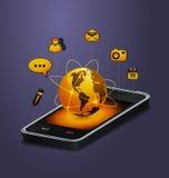通信概念移动电话 免版税库存图片