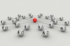 通信概念连接数netwok 免版税库存照片