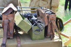 通信的军事收音机 免版税库存照片
