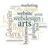 通信营销设计师机构海报 自然口气 库存照片
