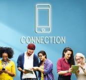 通信连接互联网图表概念 免版税库存图片