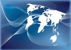 通信连接数世界 库存例证